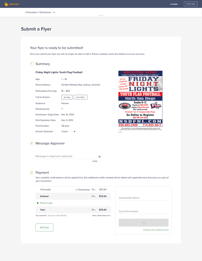 Org Portal_Submit a Flyer_Org_Summary