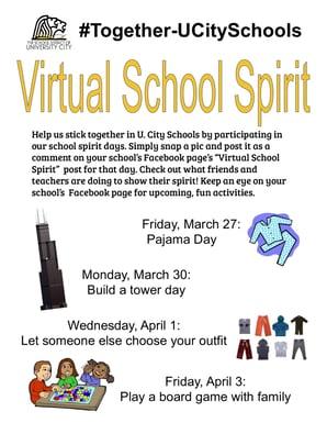 Virtual school spirit